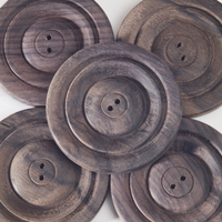Round Rosewood Buttons (sets of 5) - Natural