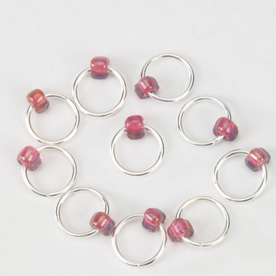 Snag Free Jewel Lace Stitch Markers up to 9mm - set of 10